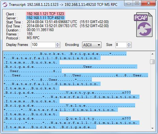 CapLoader 1.2 Transcript of OPC-DA session