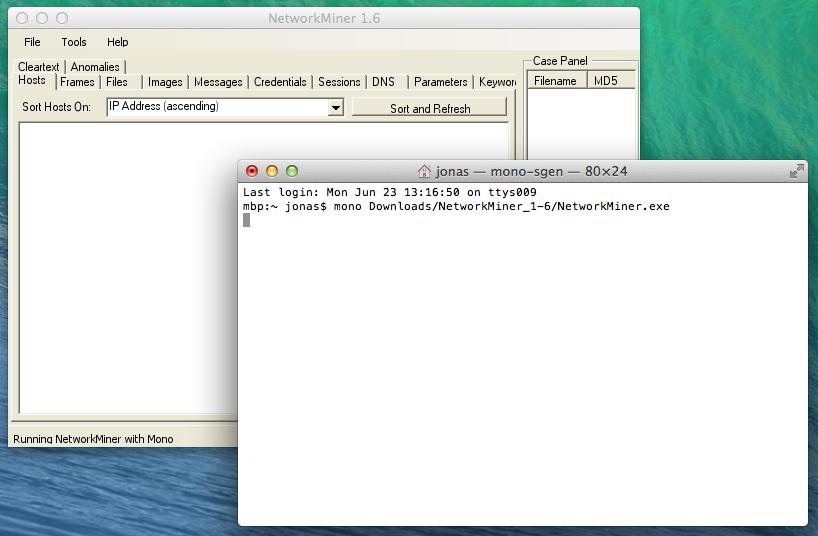 Running NetworkMiner on Mac OS X - NETRESEC Blog