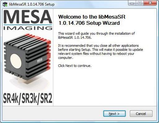lib MESA SR Installer - SwissrangerSetup1.0.14.706.exe
