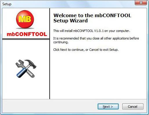 MB Connect Line mbCONFTOOL setup - setup_1.0.1.exe