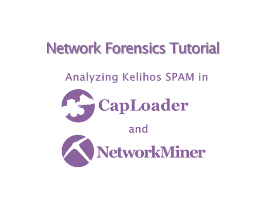 Analyzing Kelihos SPAM in CapLoader and NetworkMiner