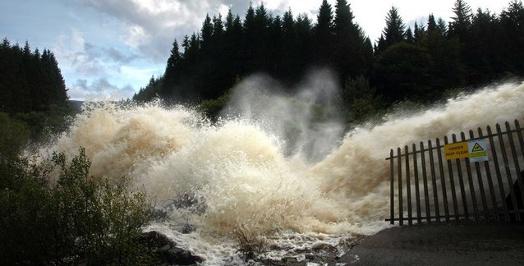 Open dam gates by David Baird