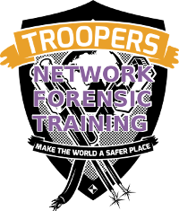 Troopers logo with Network Forensics Training