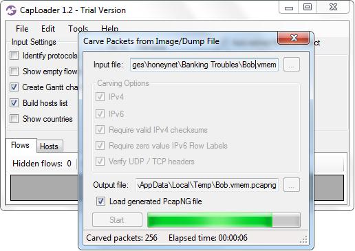 CapLoader - Handles Big Data PCAP files