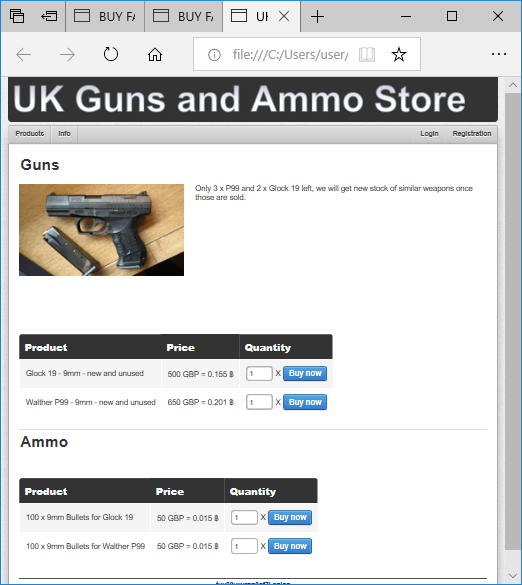 UK Guns and Ammo Store (dark web)
