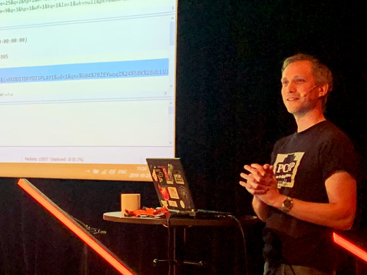 Erik presenting PolarProxy at CS3Sthlm, photo credit: CS3Sthlm