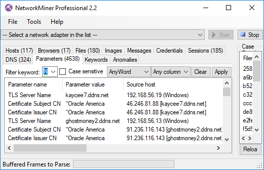 TLS Server Name (aka SNI) and Subject CN values don't match for AdwindRAT