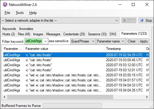 NetworkMiner 2.6 Parameters