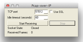 Pcap-over-IP in NetworkMiner 1.6 on Mac OS X