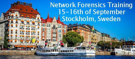 Network Forensics Training in Stockholm