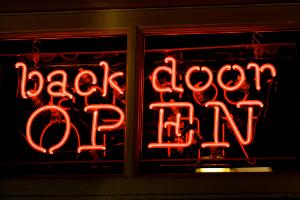 back door OPEN
