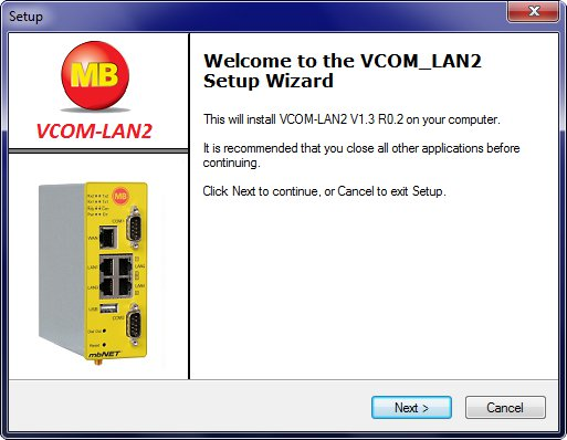 MB Connect Line VCOM_LAN2 setup - setupvcom_lan2.exe