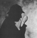 Sherlock Holmes and Magnifying Glass via Inside Croydon